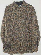 MINT Men's ENGLISH LAUNDRY L/S Shirt XL Gray PAISLEY Flip Contrast Cuff