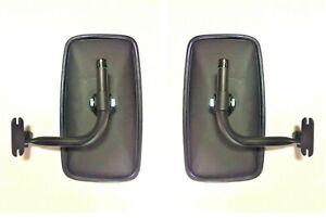 2x  Rückspiegel Außenspiegel Traktor Bagger 285x150 Spiegelhalter Spiegelarm SET