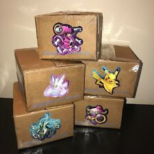 Pokemon Gift Crate Loot Box Lot Cards Pack Toys Pins Plush Coins Power! ~1 Pound