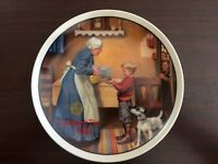 NORMAN ROCKWELL PLATE - THE PANTRY RAID, MOTHER'S DAY 1986, ****NVR DISPLAYED***