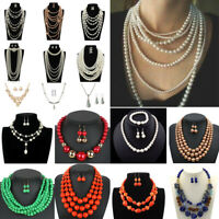 Charm Fashion Women Jewelry Pendant Choker Chunky Statement Chain Bib Necklace