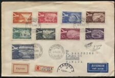 Yugoslavia 1951 Airmails Sc #C34-C42 Registered First Day Cover to Canada