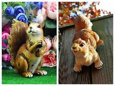 More details for climbing red squirrel garden ornament resin fence wall hanging animal sculptures