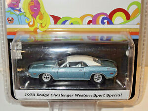 GREENLIGHT HOBBY EXCLUSIVE BLUE 1970 DODGE CHALLENGER WESTERN SPORT SPECIAL