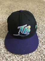 MLB Tampa Bay Devil Rays Hat Cap New Era 59Fifty Wool Fitted 7 1/4