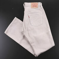 Vintage LEVI'S 501 Beige Denim Regular Straight Jeans Mens W30 L32