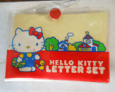 Sanrio Hello Kitty letter set 1976 Japan missing some pieces