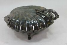 Shell Shape Silver Tone Serving Dish