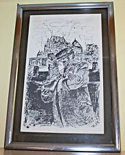 "ORIGINAL PEN AND INK DRAWING SIGNED ""MAN & BIRDS"""