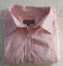 T.M Lewin Pink White Striped Shirt Women's UK Size 12 Chest