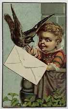 Old 1881 Victorian Trade Card Ad Barr's Autographic Cash Register St. Louis