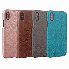 10pcs/lot Mural Embossed Phone Shell Shockproof Back Hard Case for iPhone X