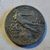 Italien / Italia / Italy: 20 centesimi 1920 R (Rom) Vittorio Emmanuel III (1925