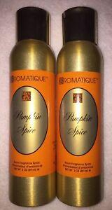2 Cans Aromatique PUMPKIN SPICE Decorator Room Fragrance Sprays 3 oz