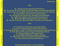 """TEARS FOR FEARS  """"The Ultrasound Remixes"""" 2-Disc Set  (16 Remix Tracks!)"""