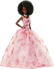 Barbie Collector Birthday Wishes Doll Curly Brunette African American DEALS
