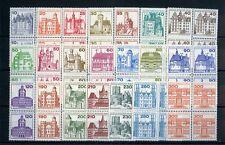 Berlín castillos & cerraduras 1977/1982 ** viererblocksatz udm 144,- + + (119259)
