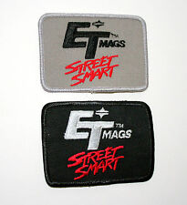 2 Vintage ET Street Smarts Mags Wheels Racing Cloth Car Patch New NOS 1970s