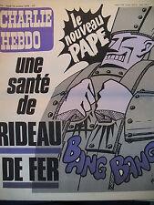 CHARLIE HEBDO N° 414 LE NOUVEAU PAPE UNE SANTE DE RIDEAU DE FER PAR GéBé 1978