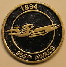 965th Airborne Warning & Control Sq AWACS Air Force Challenge Coin