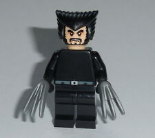SUPER HERO #05B Lego X-Men Wolverine Blk X2 Uniform Genuine Lego parts Custom
