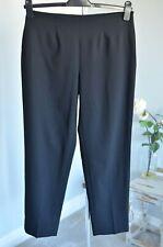 Current! £235 PIAZZA SEMPIONE Audrey black tailored wool capri trousers IT 44 12