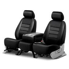 For Ford F-150 15-20 Fia LeatherLite Series 1st Row Black Seat Covers