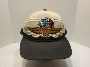 Sport Service Indianapolis Motor Speedway Snapback Hat Cap Beige Black