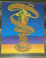 1996 Original Starbucks 25th Anniversary Psychedelic Siren Poster Victor Moscoso