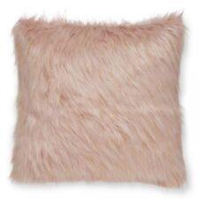 Catherine Lansfield Glitter Metallic Faux Fur Shimmer Cushion - Blush