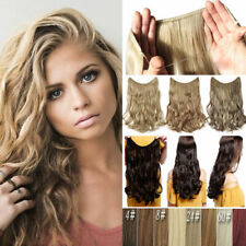 Hidden Invisible Wire Piece Secret Miracle Wavy Curly Clip in Hair Extensions