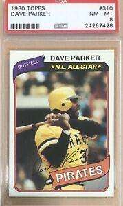 1980 Topps Dave Parker #310 PSA 8 Pirates The Cobra