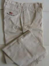 VINTAGE HEAVY DUTY RALPH LAUREN POLO JEANS OFF-WHITE PANTS SIZE 30W/30L - NWOT