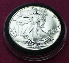 1989  SILVER EAGLE  $1 ONE DOLLAR COIN - LOVELY COIN  ENCAPSULATED