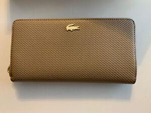 Lacoste Damen Portemonnaie Geldbörse beige taupe Neu mit Etikett