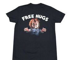 New Chucky Free Hugs Childs Play Mens Vintage Throwback T-Shirt