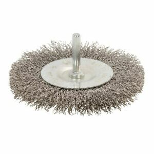 Silverline 100mm Rotary Stainless Steel Wire Wheel Brush 525076