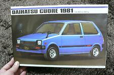 DAIHATSU CUORE 1981  1/20 MODEL KIT IMAI JAPAN
