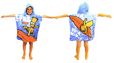 SIMPSONS BART SURFIN PONCHO KIDS BOYS COTTON CHARACTER HOODED BATH BEACH TOWEL
