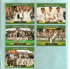 TOPPS 2002  ACB GOLD CRICKET CARDS - 2001  ASHES VICTORY