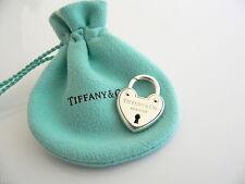 Tiffany & Co Silver Arc Heart Padlock Lock Pendant Charm 4 Necklace Bracelet