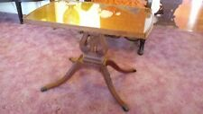 Duncan Phyfe Style Glass Top Harp Coffee Table