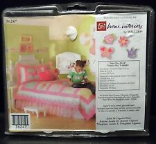 Wallies Princess 50 Cutouts Tiara Butterfly Flowers Rose Pre-pasted Wallpaper
