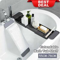 Extendable Bathtub Caddy Bath Tub Rack Tray Table Bathroom Organiser Holder Desk