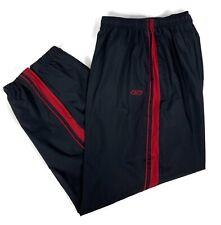 Reebok Mens 2XL Black Athletic Sport Track Running Pants Zip Leg Mesh Lined