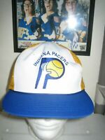 VINTAGE 80S INDIANA PACERS BASEBALL HAT CAP ADULT ONE SIZE NBA BASKETBALL VTG