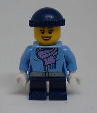 Lego Holiday - Frau ( Figur Schal Stadtbewohner City Urlaub blau ) - Neu