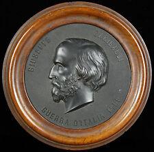 Médaillon Giuseppe Garibaldi Général et patriote italien Italie Italia XIX 16cm