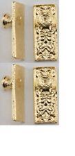 Dollhouse Miniatures 1:12 Scale Ornate Door Knobs, 4/Pk, Brass #Cla05612