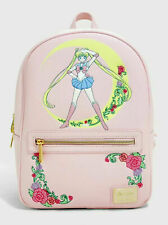 Loungefly Sailor Moon Crescent Moon Pink Mini Backpack Bag NEW